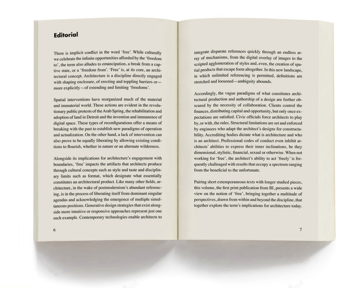Page spread of introduction text from