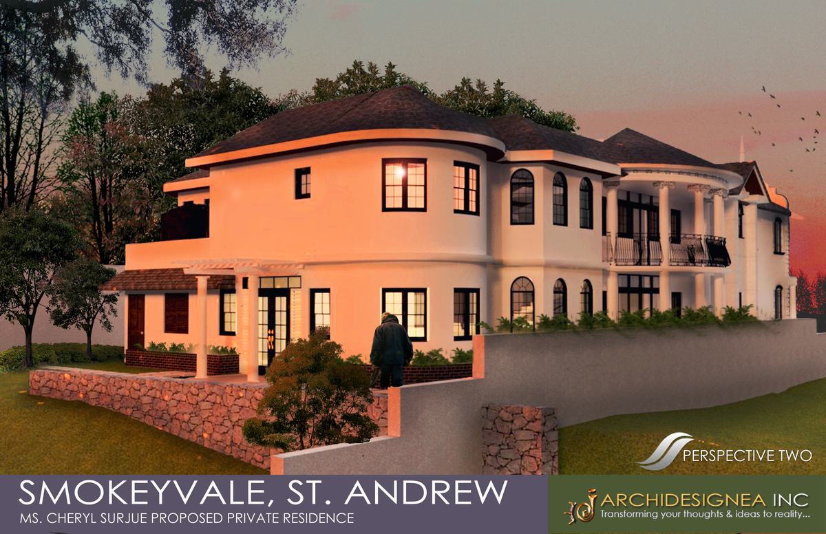 Rear Facade of the Proposed Private Residence
