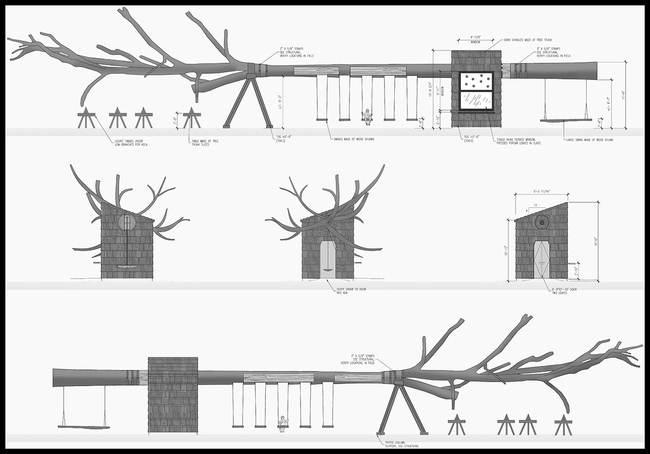 A diagram of the elevations of the tree. Courtesy Visiondivision