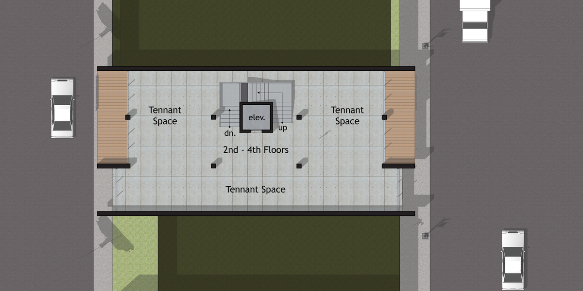Option B - Second through Fourth Level Floor Plan