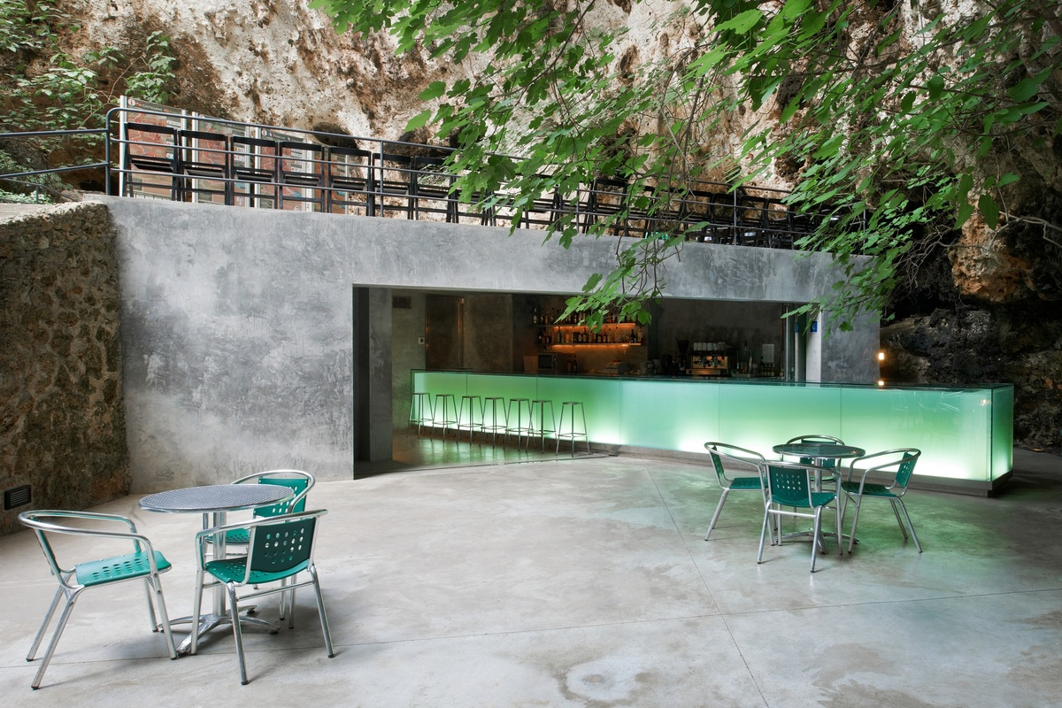 Bar in the Caves of Porto Cristo. Majorca by A2arquitectos