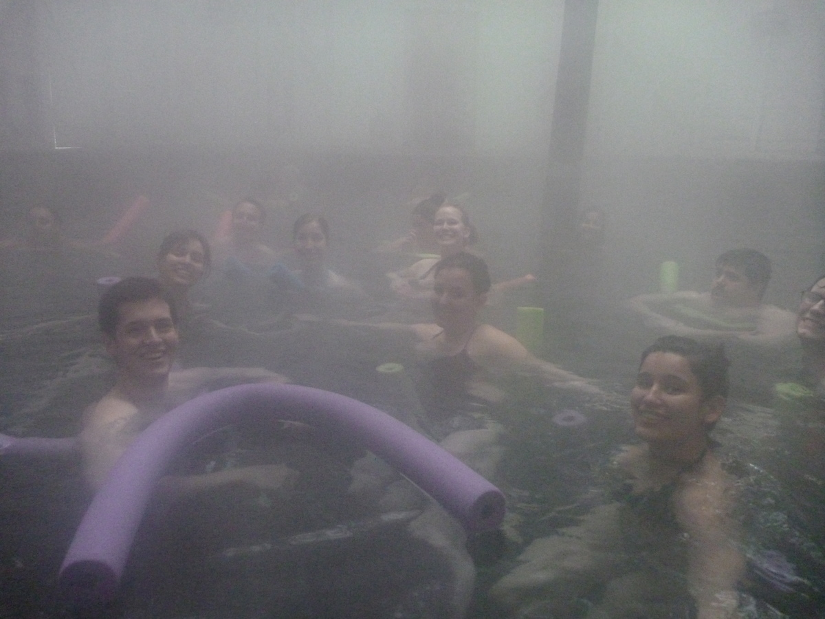 Inside the hot springs