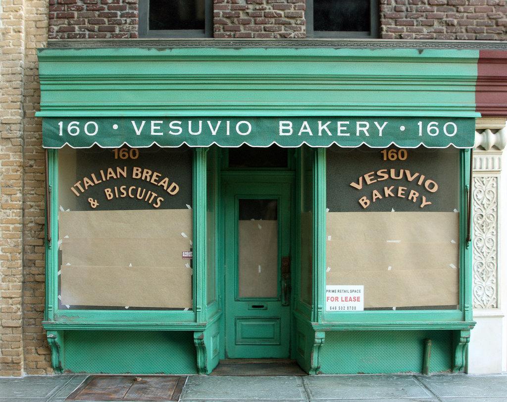 scale model of Vesuvio Bakery, at 160 Prince Street Lower Manhattan