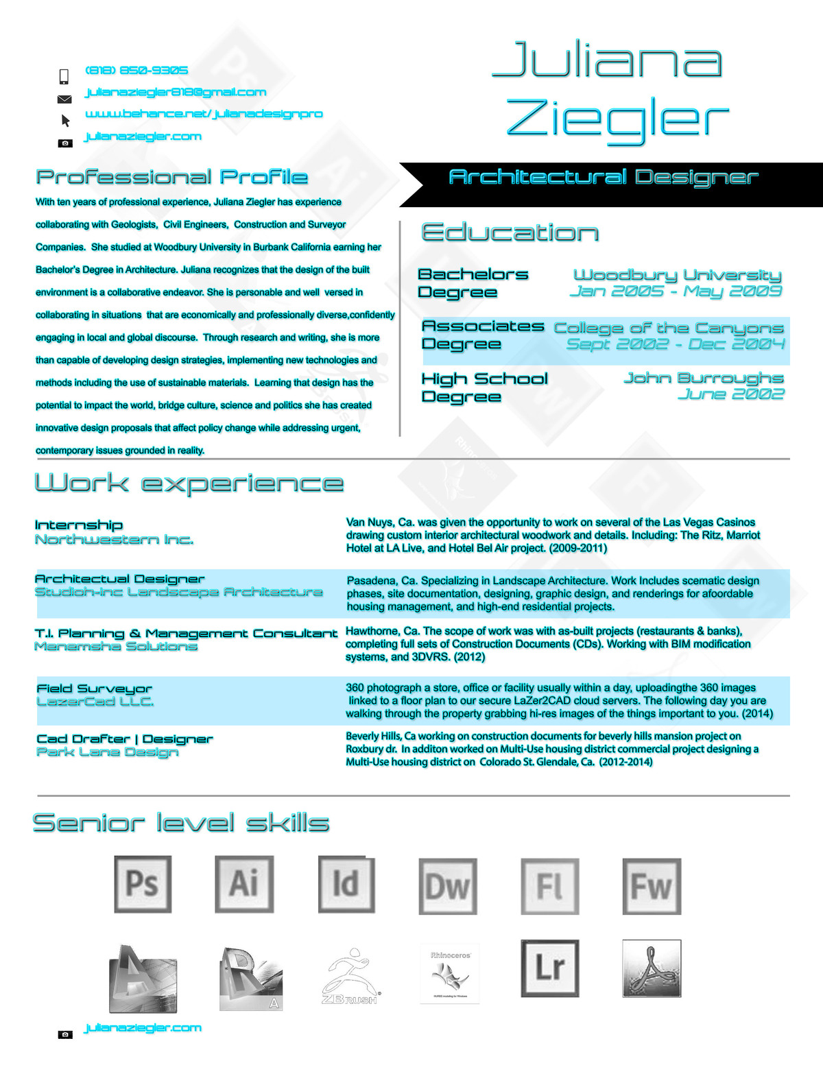 juliana resume architectural designer 2014 juliana ziegler