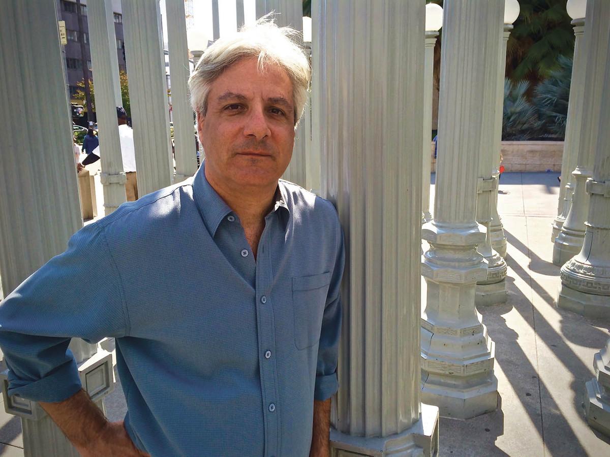 Author David Ulin standing in Chris Burden's