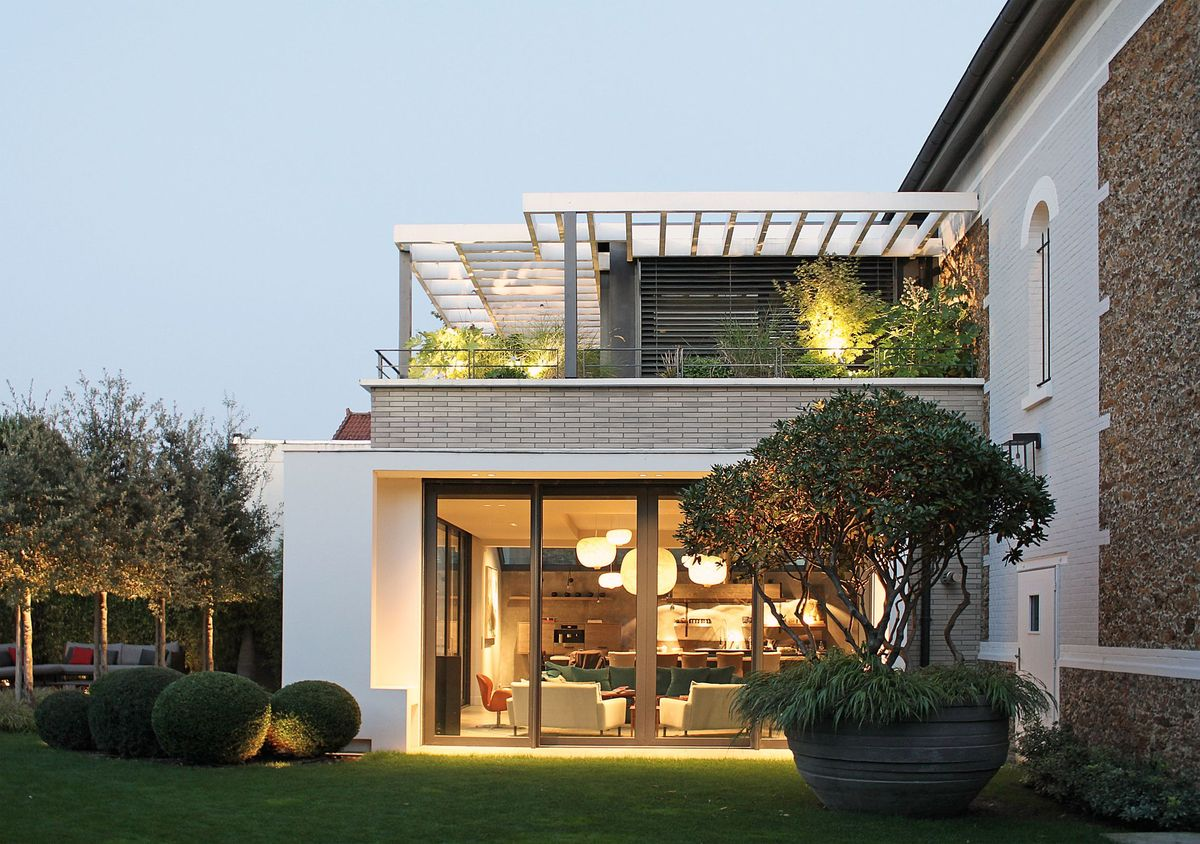 Modern extension of an old house near paris atelier dreyss archinect - The modern apartment in the old school ...