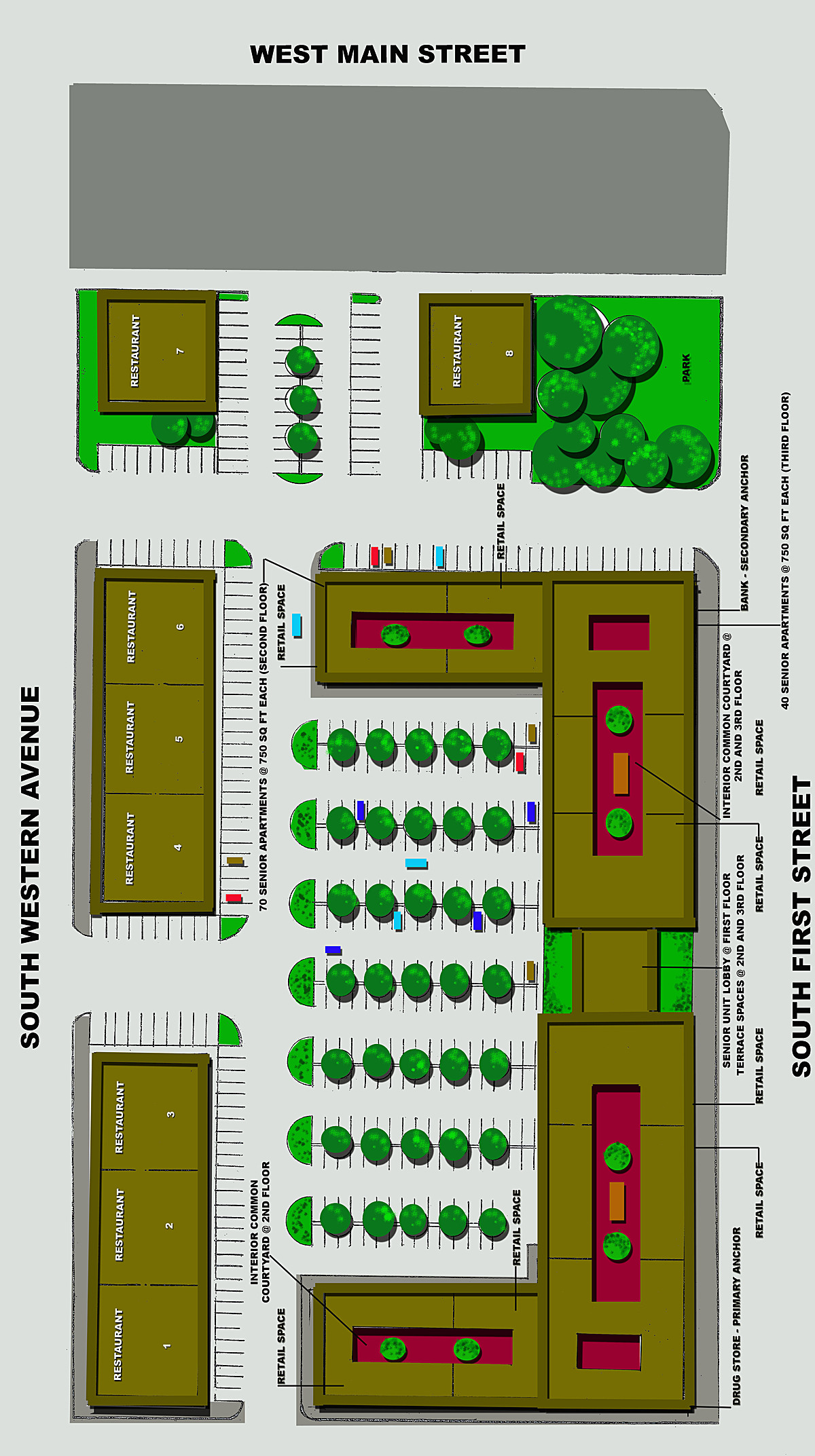 Conceptual Site Plan for Redevelopment of Site