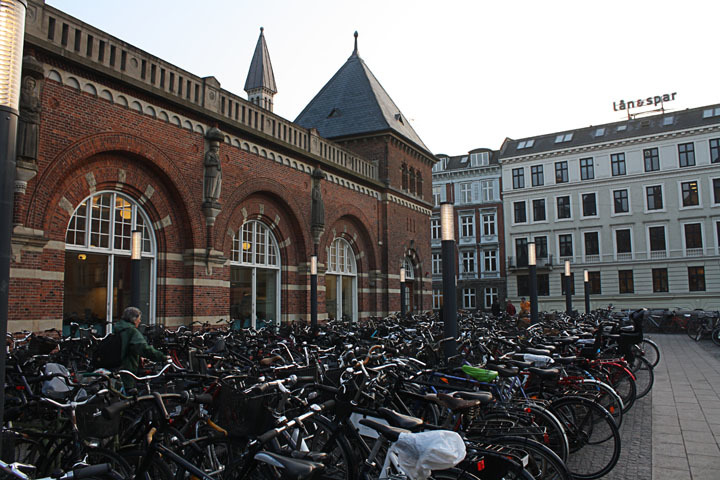 Plethora of bicycles in Copenhagen