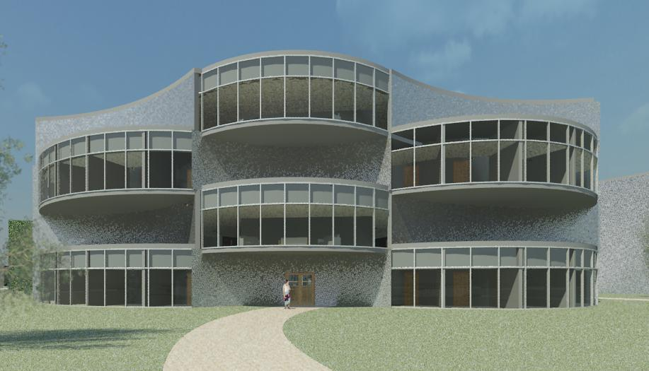 Elevation of the Medical Building