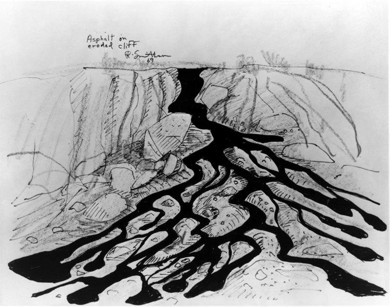 Asphalt on Eroded Cliff
