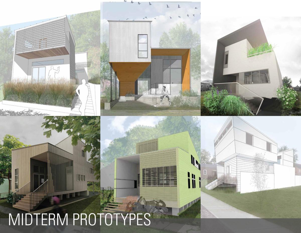Student Prototypes of URBANbuild09, DSGN 6100. Image courtesy of Tulane School of Architecture.