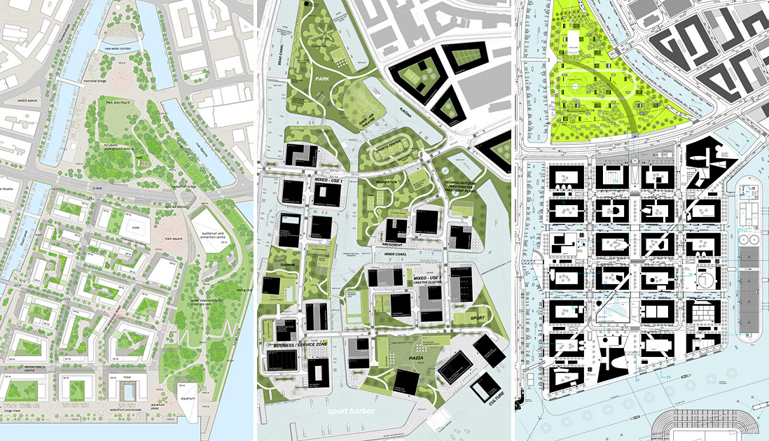 Three 1st prize winners selected for delta and porto baros for Urban design concepts architecture