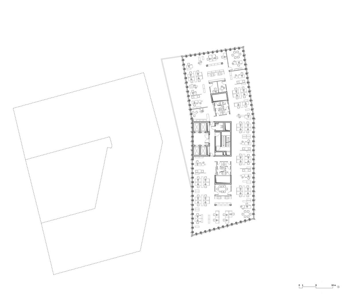 Floor plan +10 (Image: Barkow Leibinger)