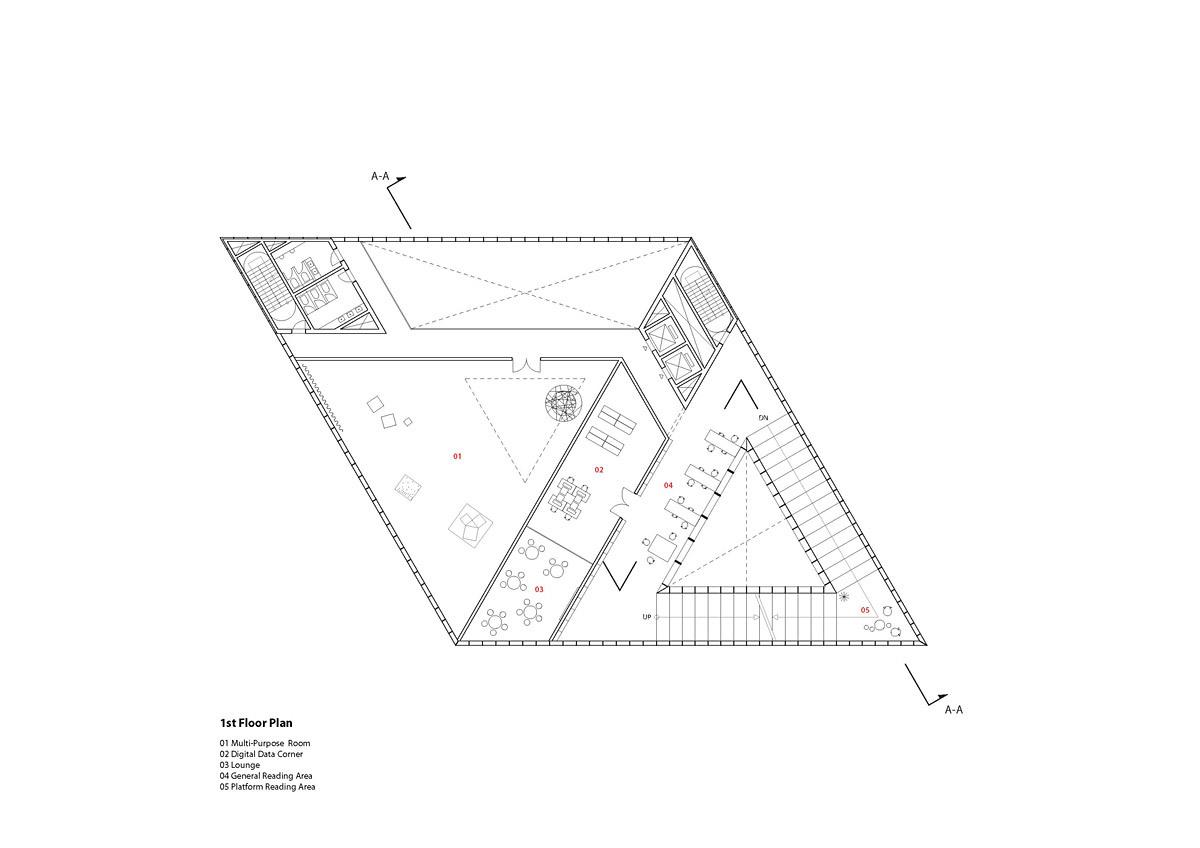 Floor plan - 1F (Image: studio SH)