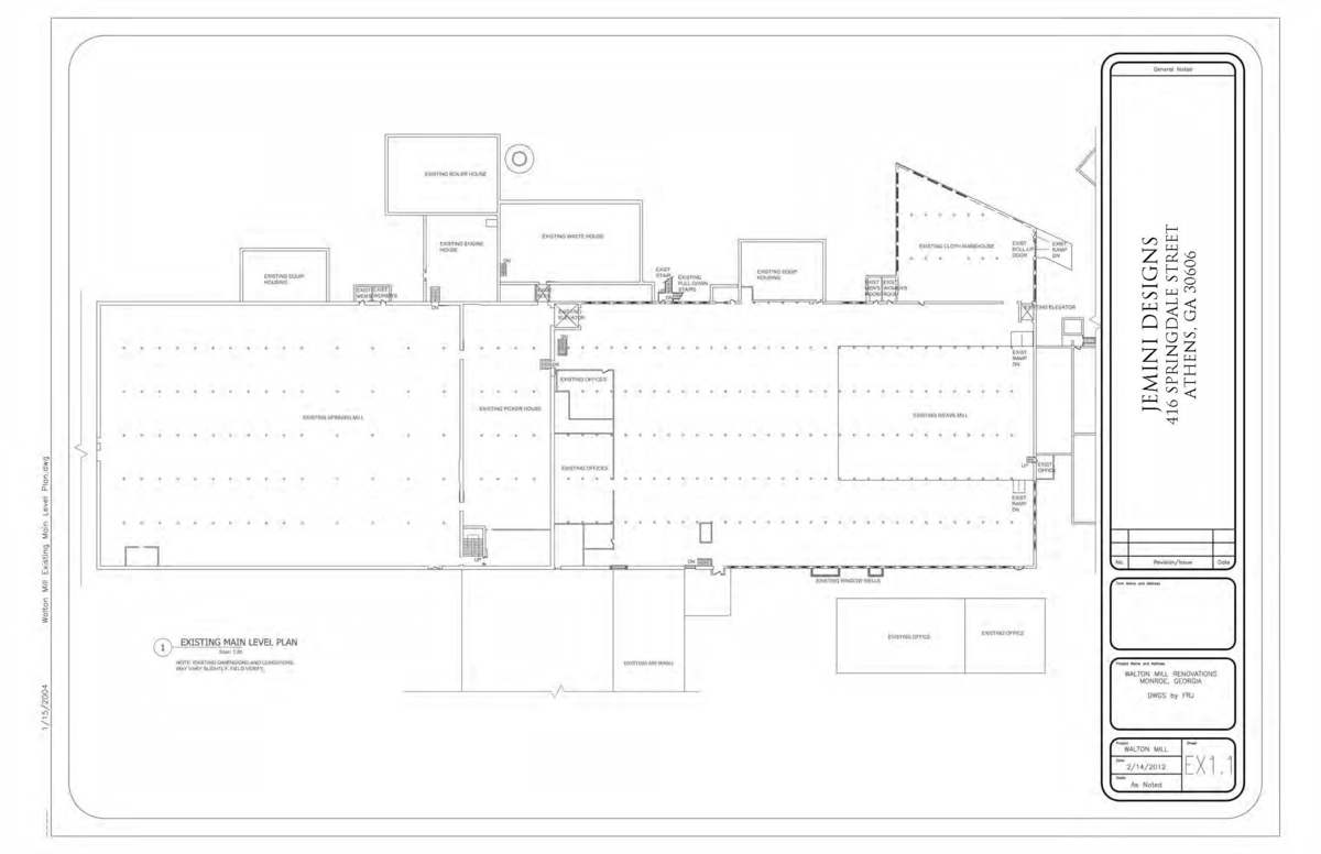 Existing Main Level Floor Plan