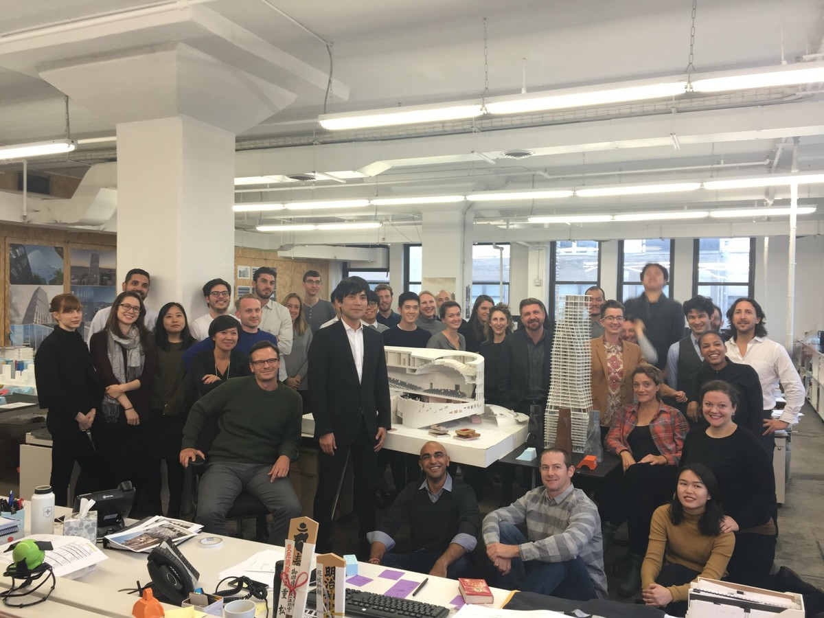 The OMA New York team in their office. Photo courtesy of the firm.