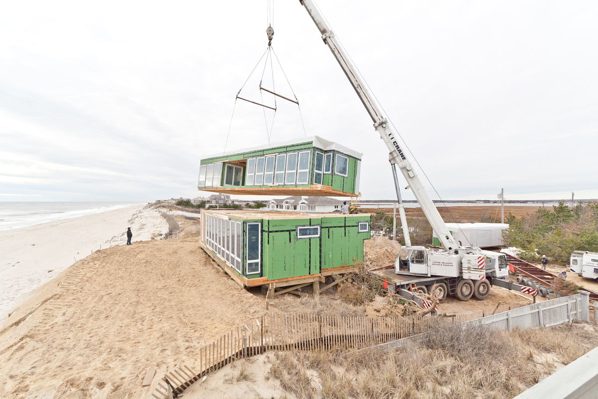Dune road beach house resolution 4 architecture archinect for Prefab beach house
