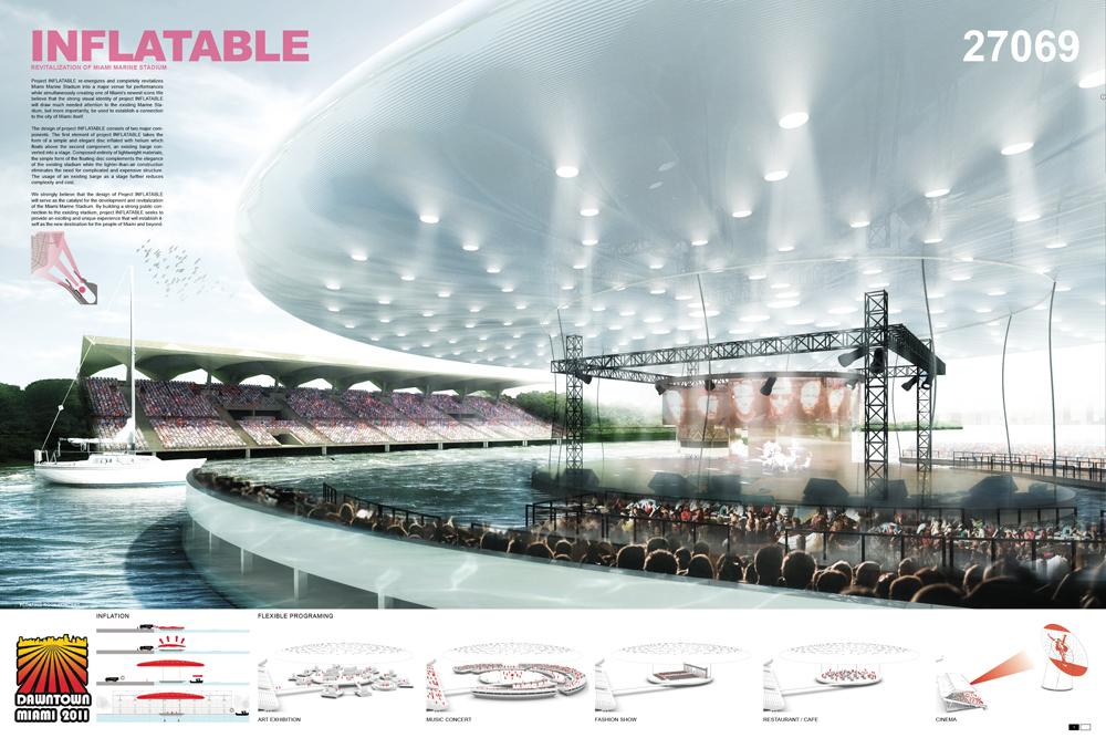 INFLATABLE : 2nd place: Eric Tan + Leon Lai Team: Pink Cloud.DK.Design Group Copenhagen, Denmark