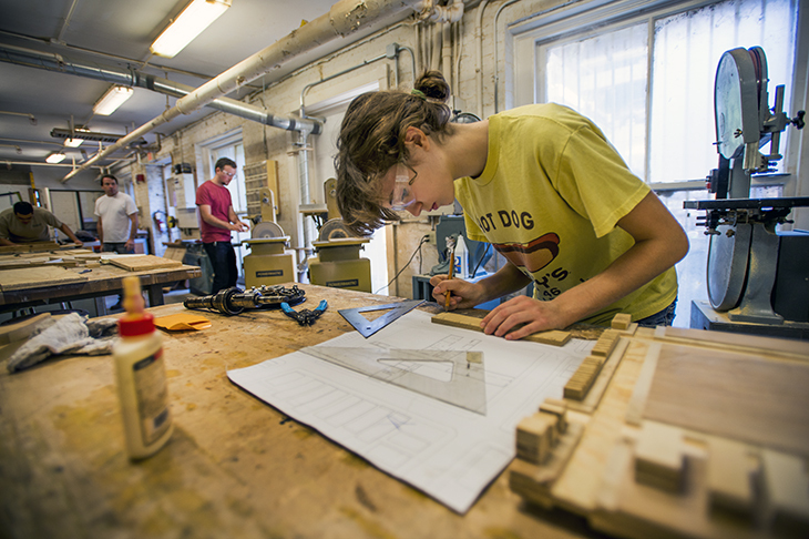 Studio culture of making at Tulane School of Architecture. Image courtesy of Tulane School of Architecture.