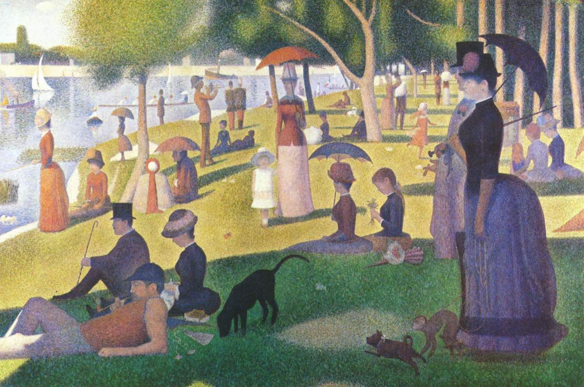 A Sunday Afternoon on the Island of La Grande Jatte by Georges-Pierre Seurat (1884-86). Image via Wikipedia.