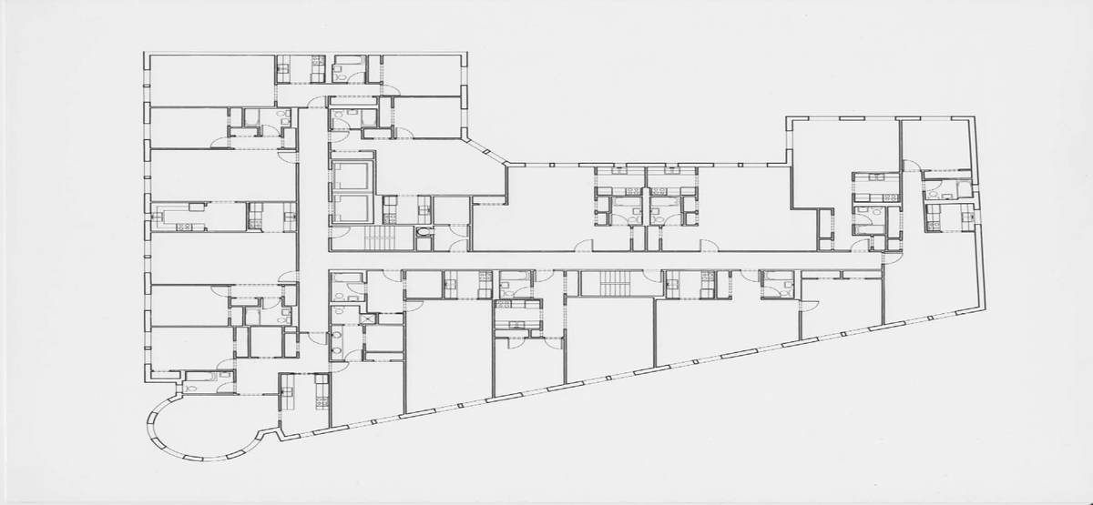103 unit mixed use apartment building landmarked house for Apartment renovation plans