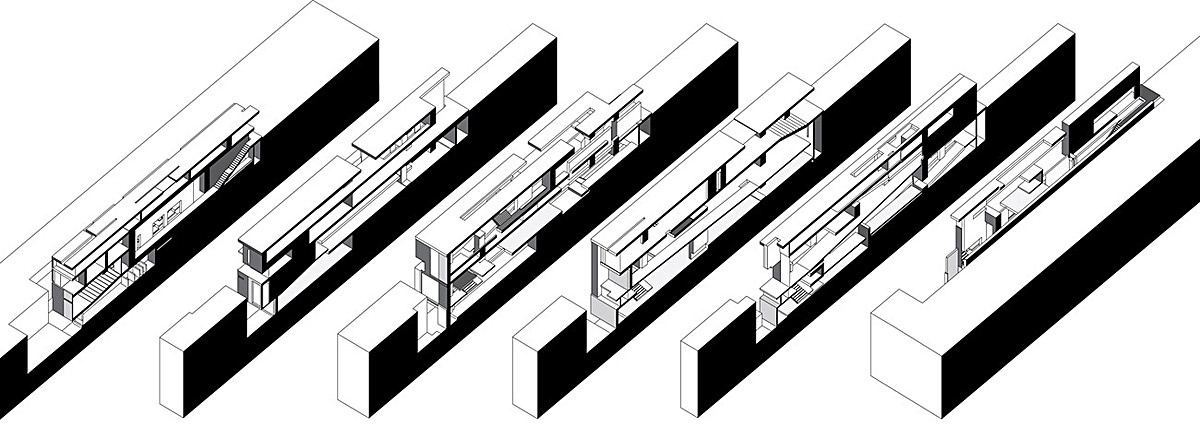 longitudinal axonometric sequence