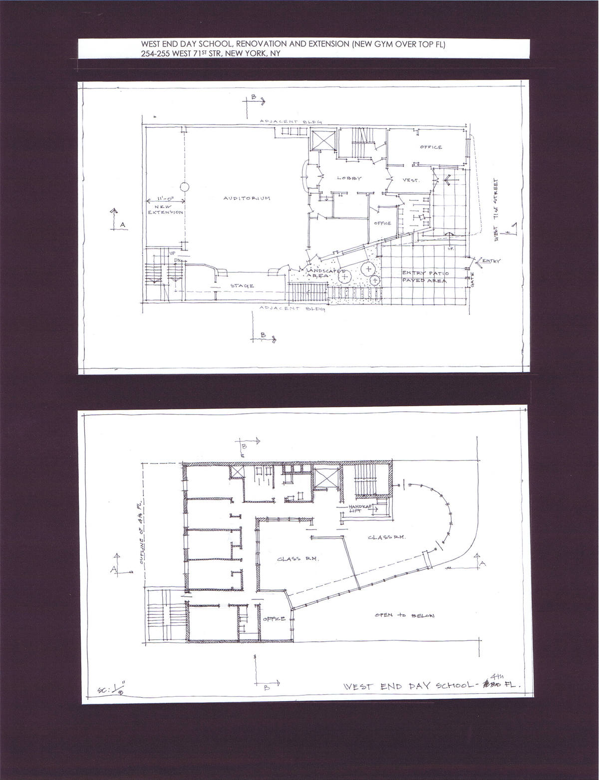 Ground and 4th Floor Plans