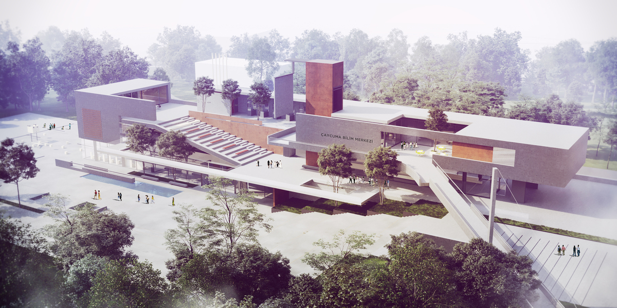 005 – AERIAL VIEW - Image Courtesy of ONZ Architects