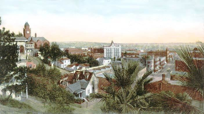 Grand Avenue at 2nd St., just south of Disney Hall today, late 1800s. Image via CSU.