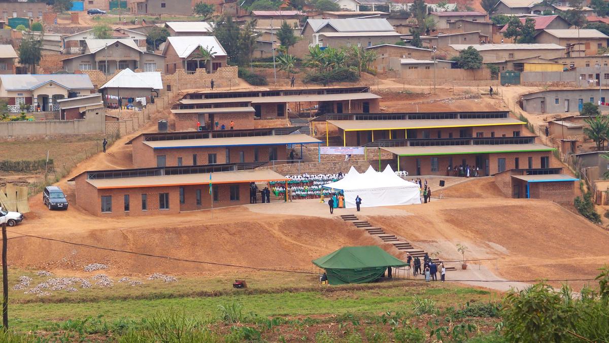 Aerial view of Girubuntu Primary School