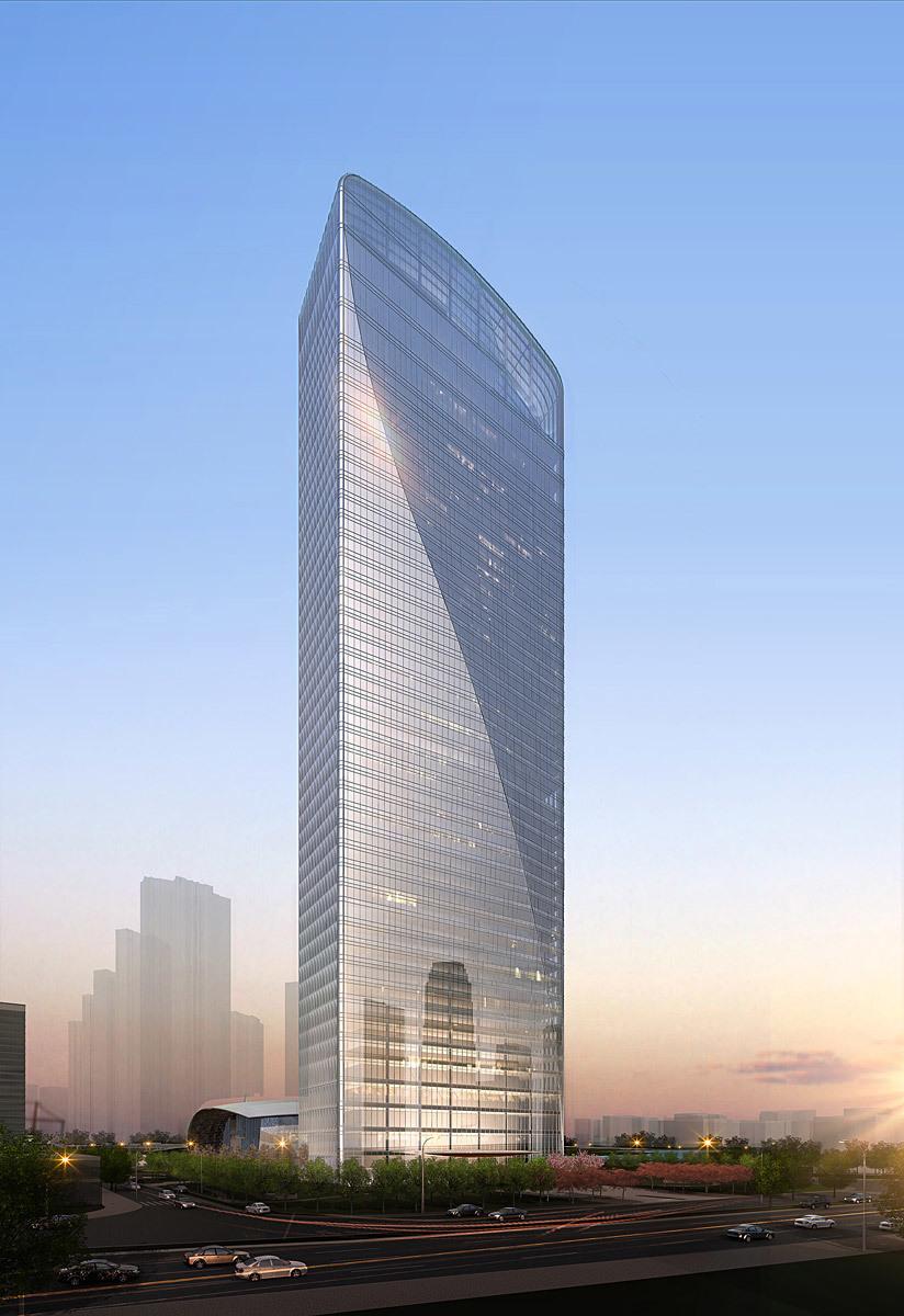 Qintai overall (Image: Adrian Smith + Gordon Gill Architecture)