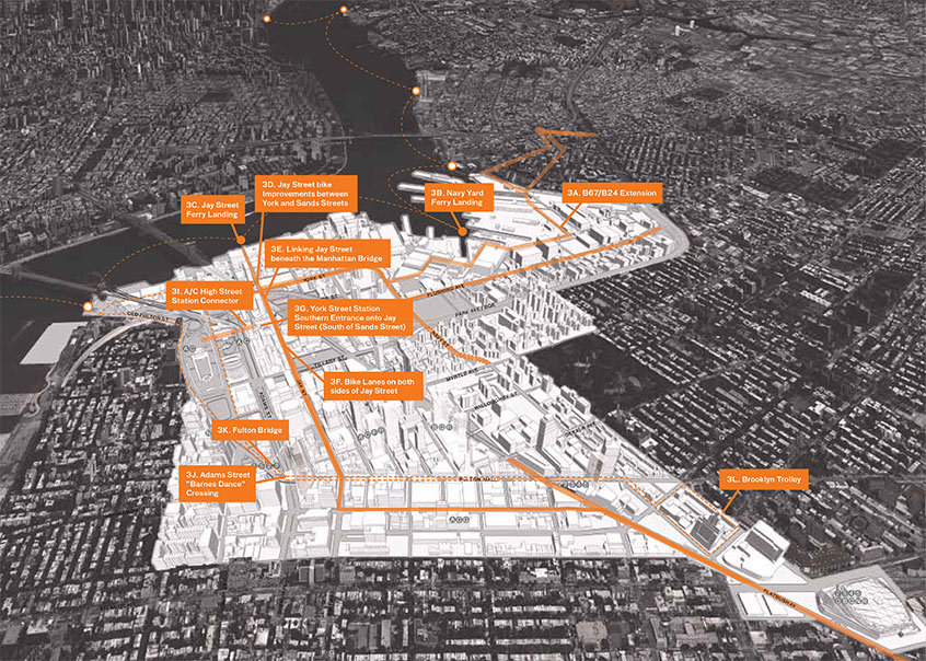 One objective of the plan is to facilitate transportation within the Triangle, like extending current bus routes and adding ferry landings and improving bike paths.