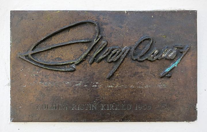 Alvar Aalto Signature at Vuoksenniska Church