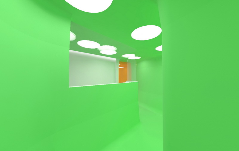 Tunnel at kids bathroom