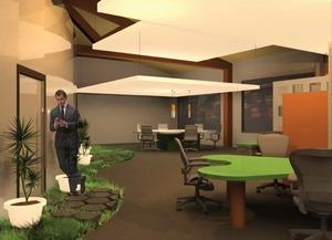 Open Office Space 3dsmax Render