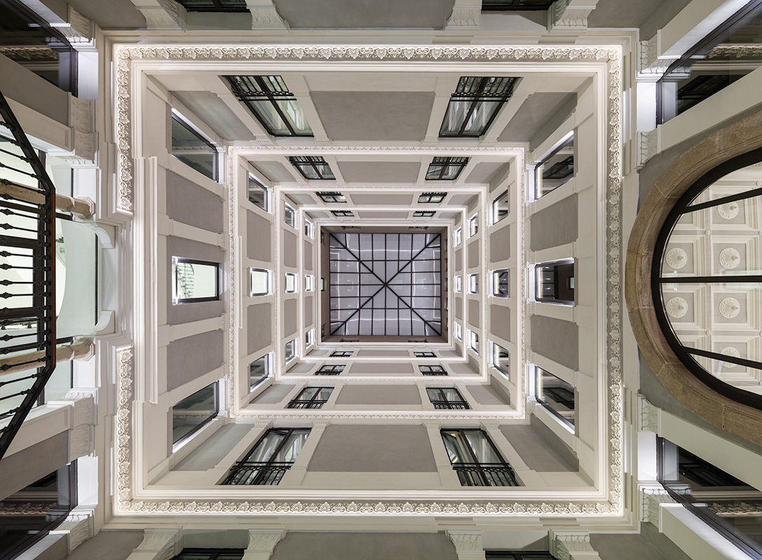 Interior façade
