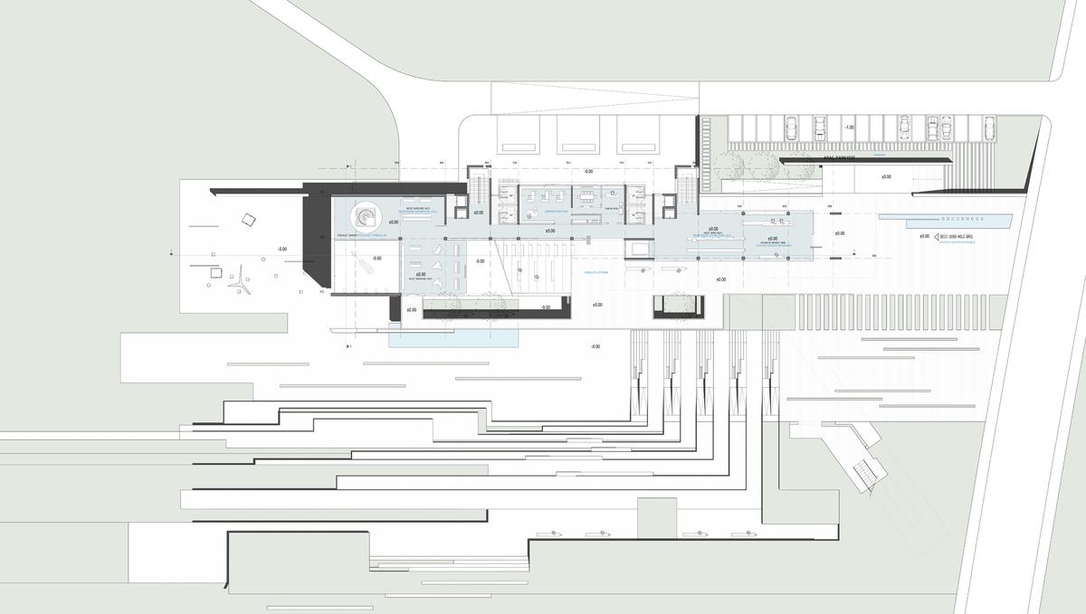 008 – UPPER GROUND FLOOR PLAN | 1/200 - Image Courtesy of ONZ Architects