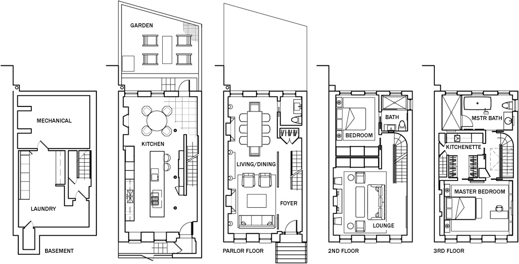 20 Genius Small Townhouse Floor Plans House Plans 9720