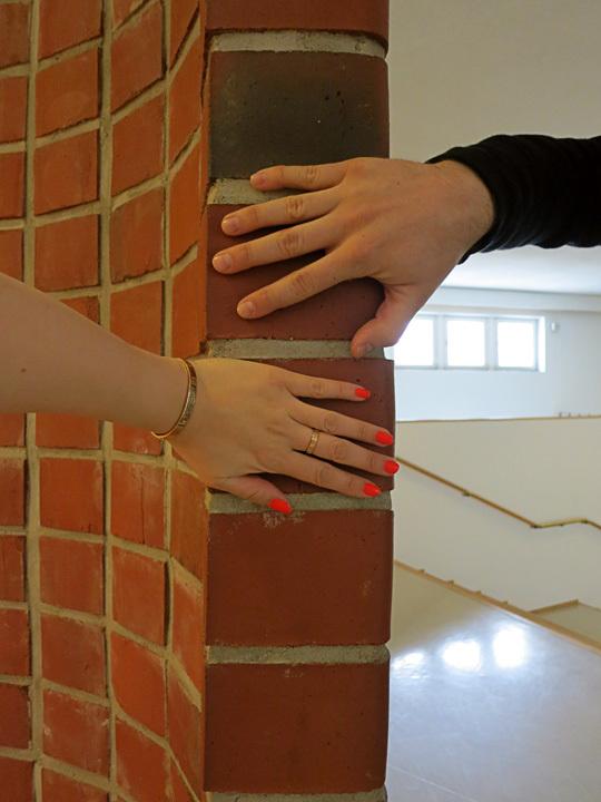 Brick detail at the Alvar Aalto Museum in Jyväskylä