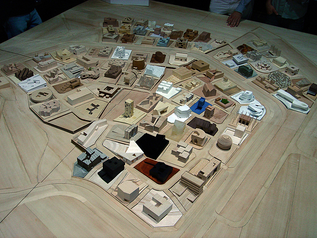 Physical model of the Ordos project. Photo: © Fred Scharmen