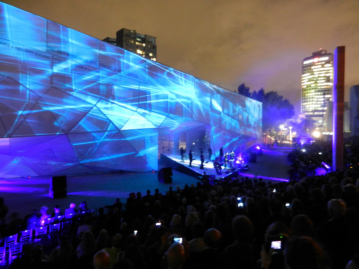 Opening ceremony projections by Locomotion Design; photo: Preston Scott Cohen