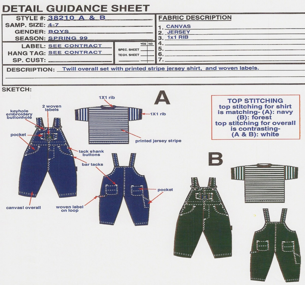 Clothing Design and Diagram for Children's Network