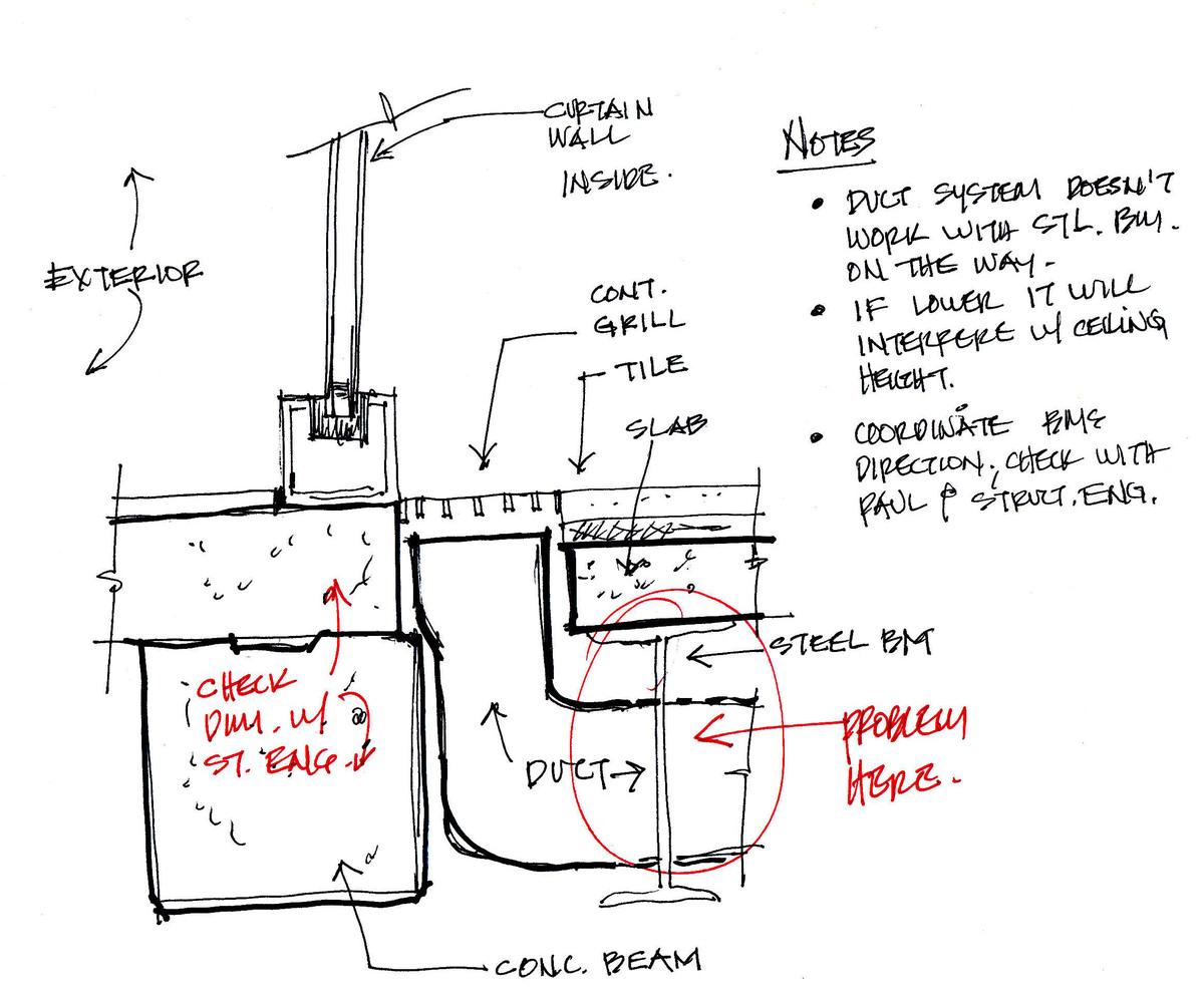 HVAC design detail conflict