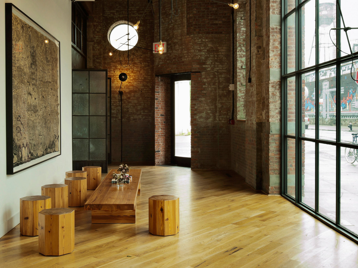 The wythe hotel workstead archinect for Villa lobby interior design