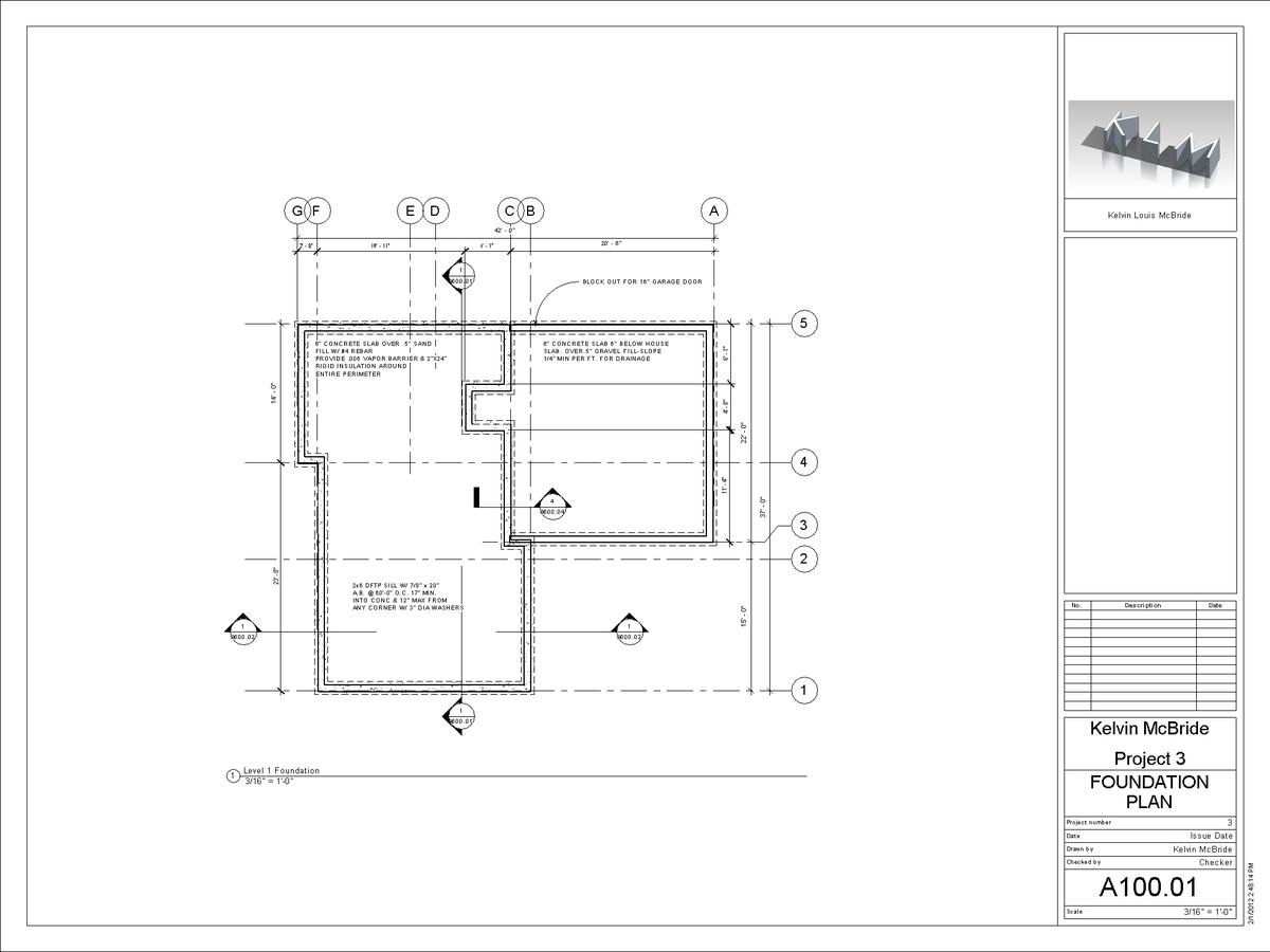 A100-01 - Foundation Plan