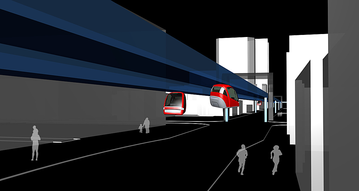 View of People-Mover System