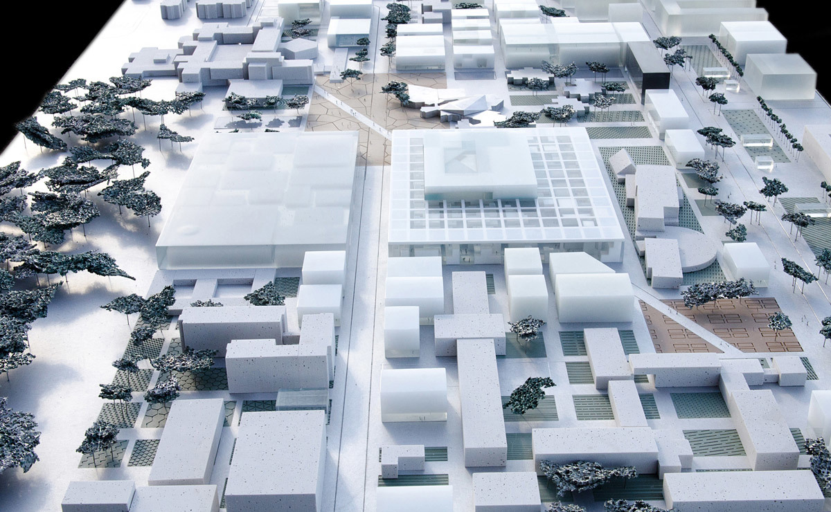 Overview of the ECP integrated in urban plan (Image courtesy of OMA)