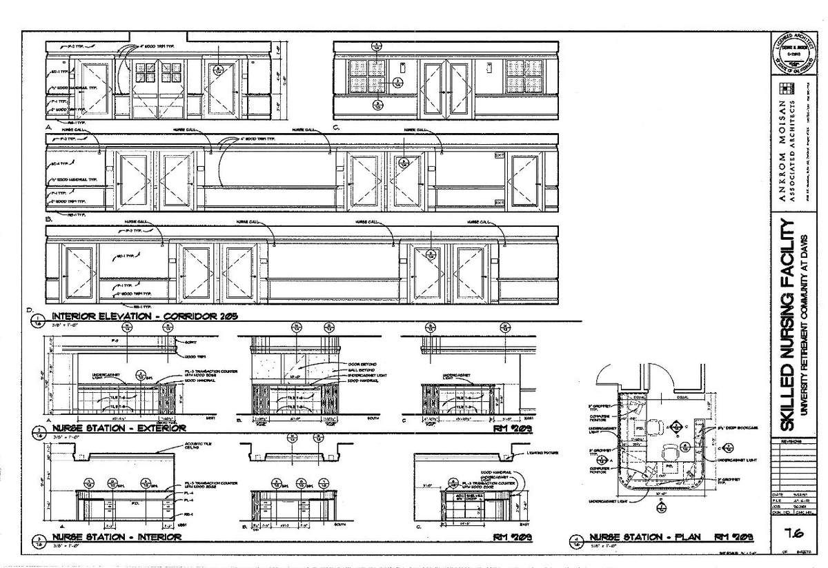 Interior Elevations- Alzheimer's Lobby & Nurse Station Plan