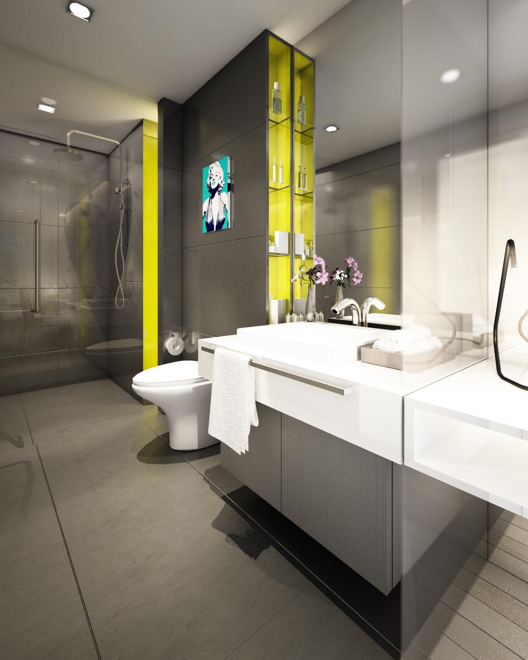 Mock up room B Bathroom