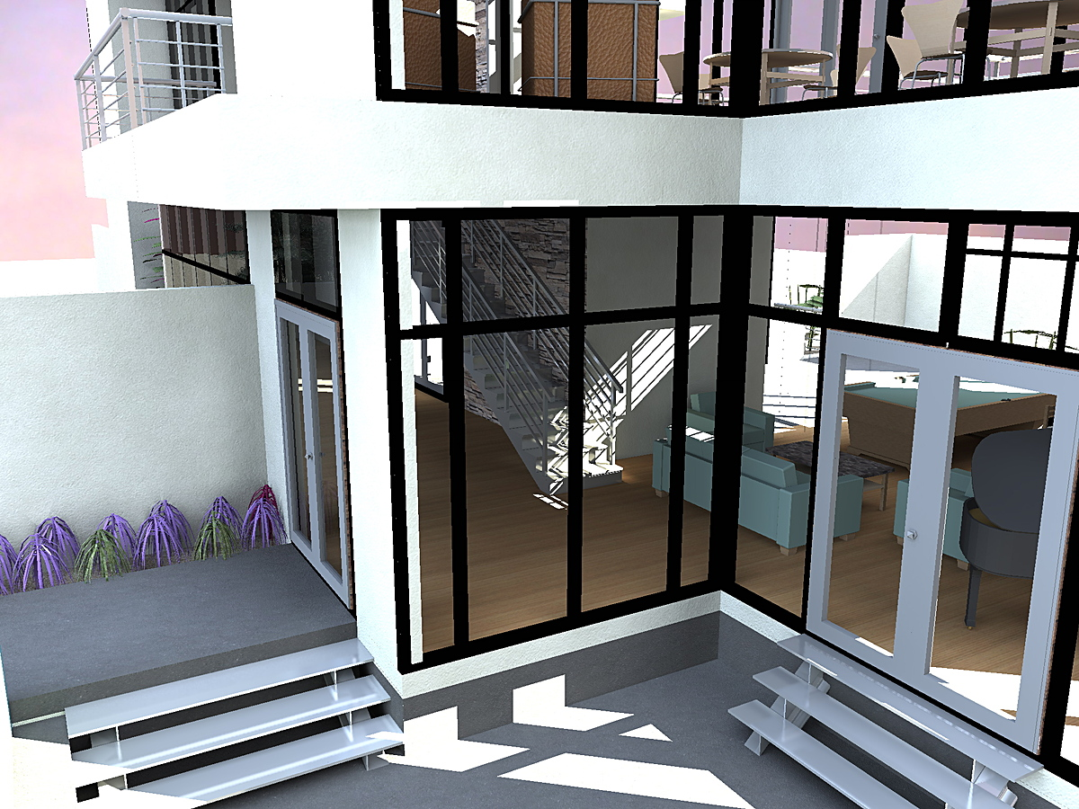 Render_Front Entry and Patio